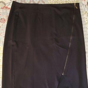 Cato Pencil Skirt with Zipper Embellishment 18W